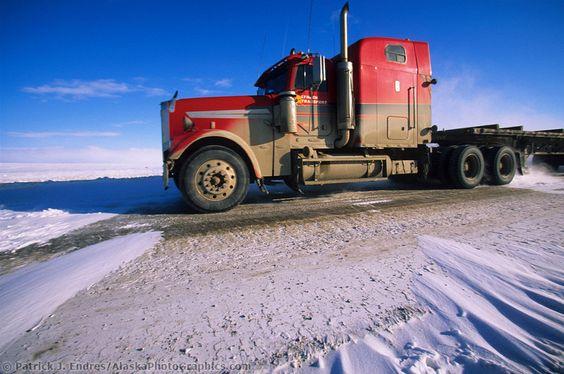 Semi Truck Oil : Semi truck hauls supplies to prudhoe bay oil fields james