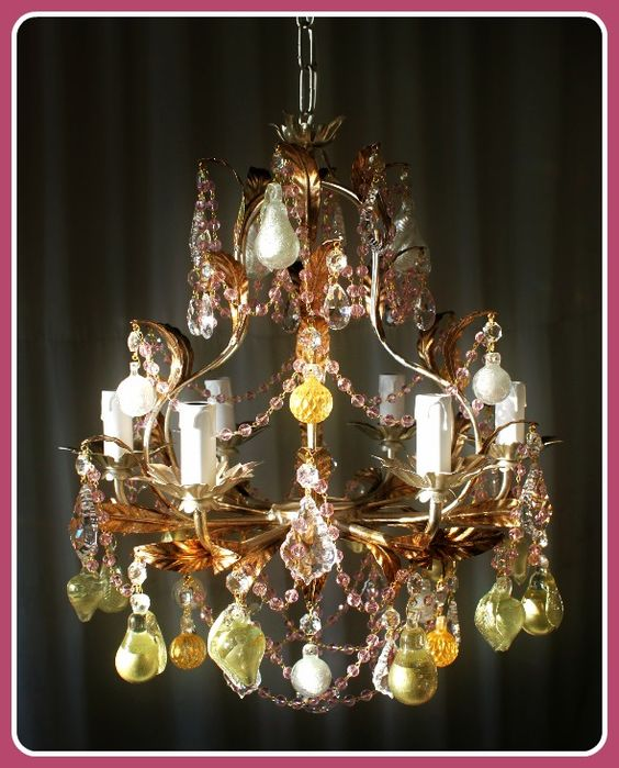Silver Frame Fruit Chandelier 138126 Find out more at http – Fruit Chandelier