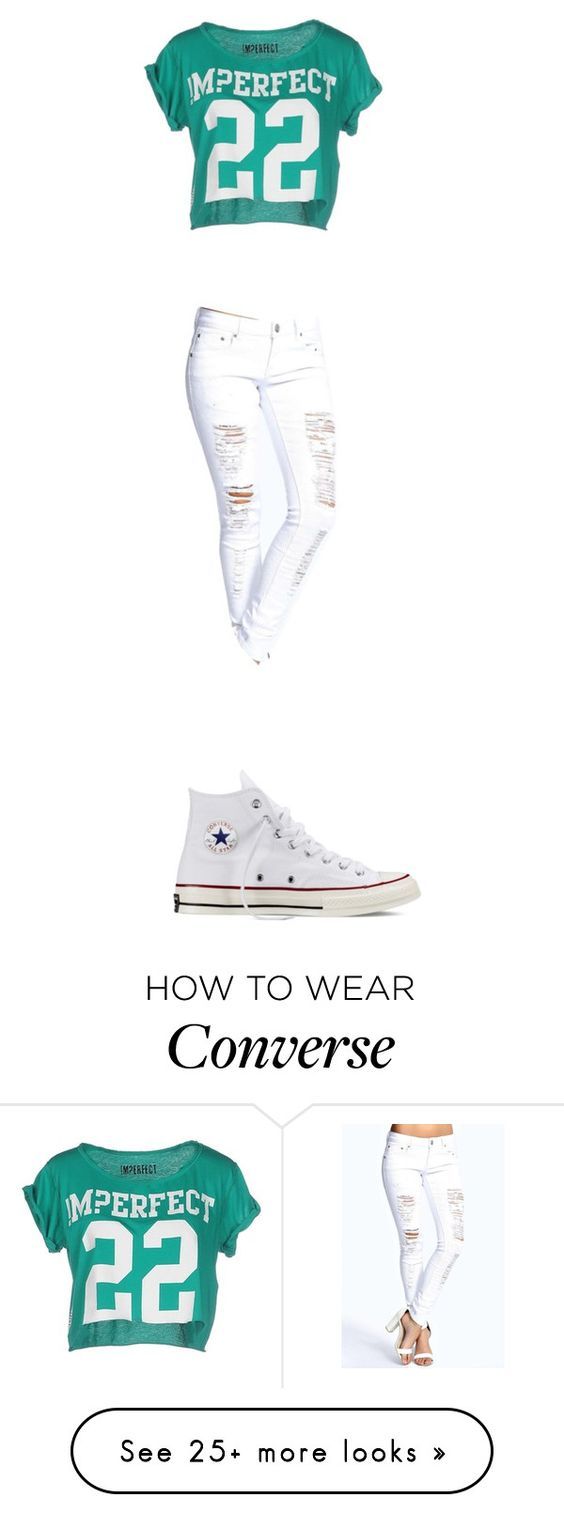 """""""I NEED HELP"""" by princess-k-744 on Polyvore featuring !M?ERFECT, Boohoo, Converse, women's clothing, women's fashion, women, female, woman, misses and juniors"""