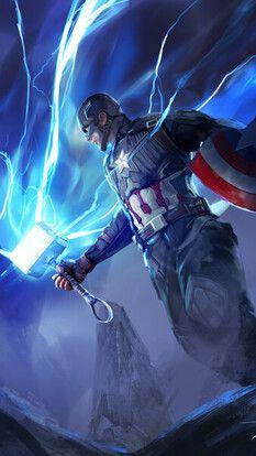 Captain America Hammer Lightning Mjolnir Avengers Endgame 4k Hd Mobile And Desktop Wal Captain America Wallpaper Marvel Comics Superheroes Marvel Artwork