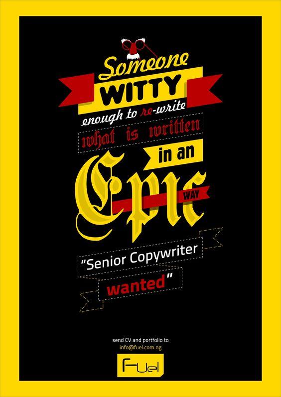Ad agency copywriter