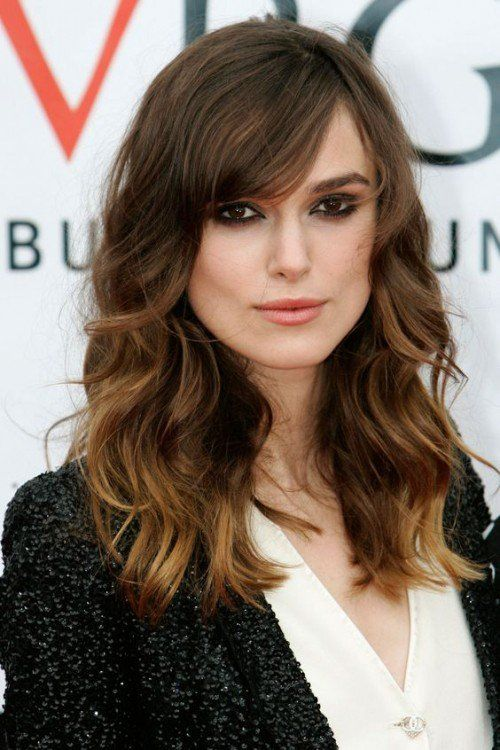 40 Side Swept Bangs Hairstyles Herinterest Com Square Face Hairstyles Long Wavy Haircuts Haircut For Square Face