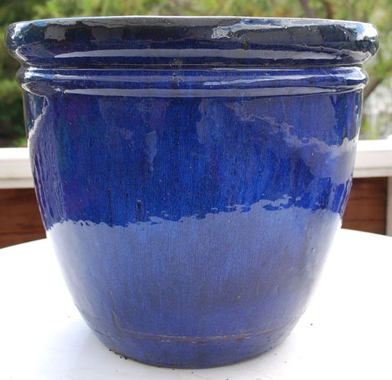 Blue Glazed Planters Large Google Search Deck
