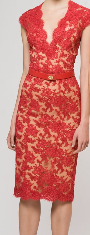Red lace with nude lining- something to feel sexy on