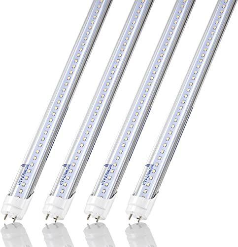 New Hyperikon T8 4 Foot Led Bulbs 40 Watt Replacement 18w T10 T12 Light Tube 5000k Single End Ballast Bypass Clear Ul Dlc 4 Pack Online In 2020 Spice Rack Mounted