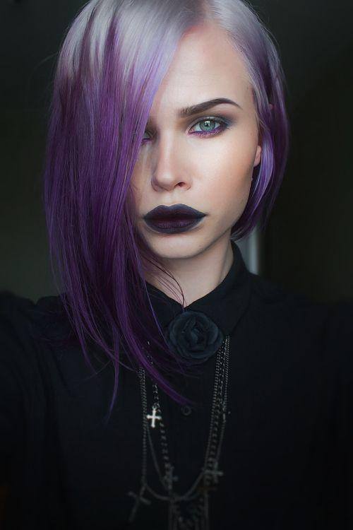 smokey purple hair - Google Search