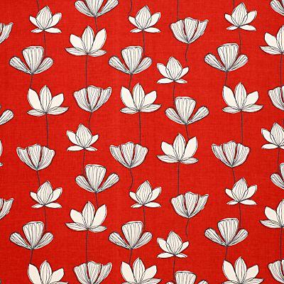 Buy John Lewis Gingko Fabric, Chilli online at JohnLewis.com - John Lewis £16