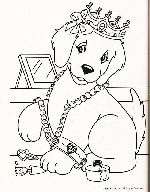 30 best coloring pages lisa frank images on pinterest coloring books adult coloring and kids coloring - Puppy Coloring Pages