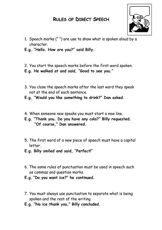 Rules for direct speech google search school things pinterest fandeluxe Gallery