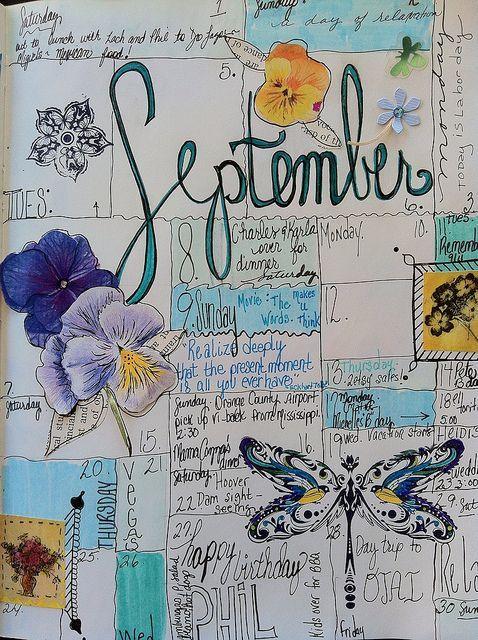 Calendar Journal by born 2 b creative, via Flickr