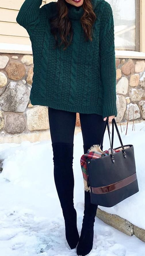 35 Sweater Winter Fashion Outfit Ideas to Copy - Style Spacez