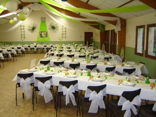 Vends d co mariage vert anis et blanc photo 3 idee for Centre de table vert anis