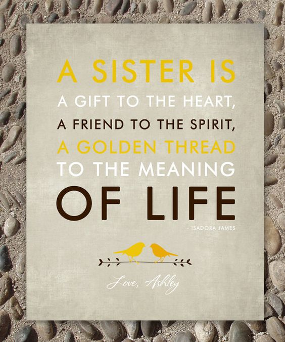 Wedding Gifts For My Sister : SISTERS gift printPersonalized gift for your SisterWedding Gift ...