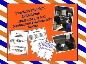This is a fun partner activity to reinforce dividing unit fractions by wholes and wholes divided by unit fractions.  This download contains 12 station cards to display around the room.  In partners, students rotate, like a gallery walk, from station to station.