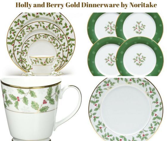 Holly and Berry Dinnerware by Noritake