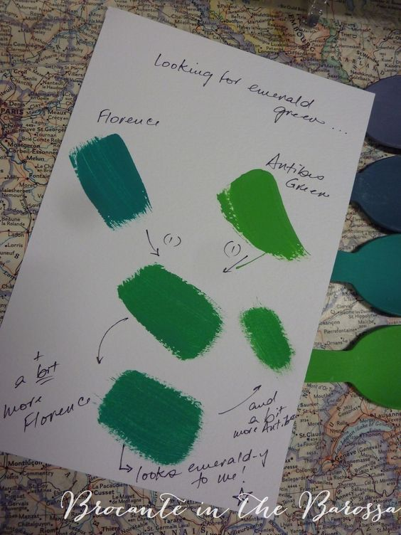 Annie sloan florence and emeralds on pinterest - How to mix emerald green paint ...