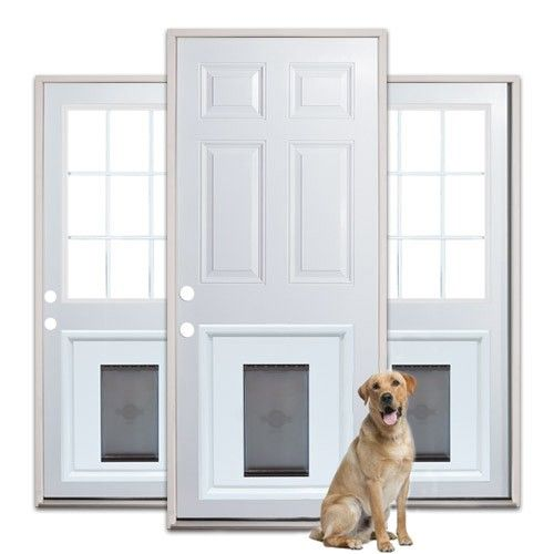 Exterior Door With Pet Door. custom doors with doggie door  JELD WEN steel and fiberglass installed pet Pinterest Pet Doggies Doors