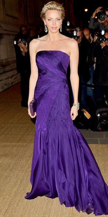 Look of the Day - October 9, 2013 - Princess Charlene in Ralph Lauren from #InStyle