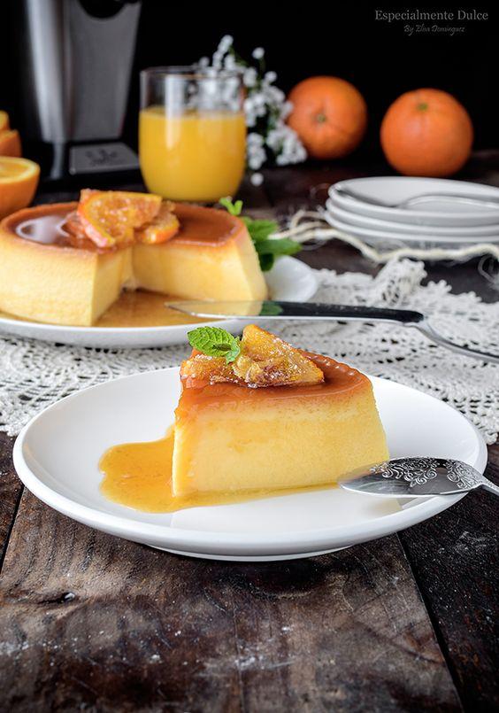 Flan Casero De Huevos Y Naranja Al Baño María Flan Casero Flan Casero Receta Flan Casero Receta Facil