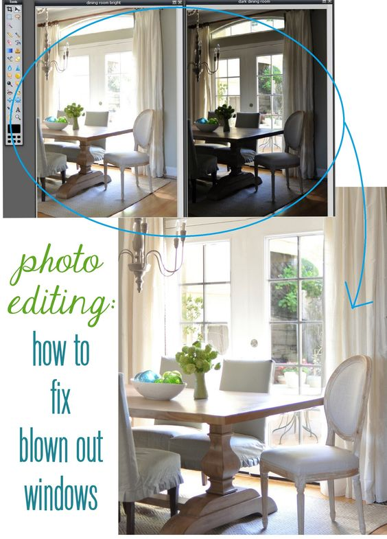 **** GREAT tutorial from Centsational Girl for fixing blown out windows using PIXLR or Photoshop, and combining dark & light exposed images - EASY with adjustment layer and brush tool!!!