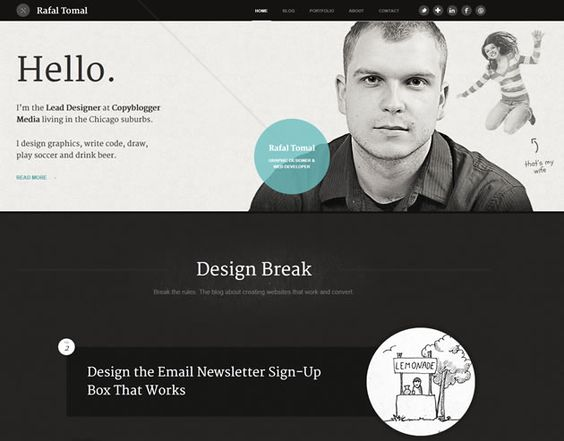 The fabulous Genesis child themes of Rafal Tomal.  Stunning WordPress themes by the chief designer over at Copyblogger.