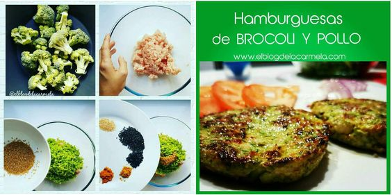 Hamburguesas de brócoli y pollo