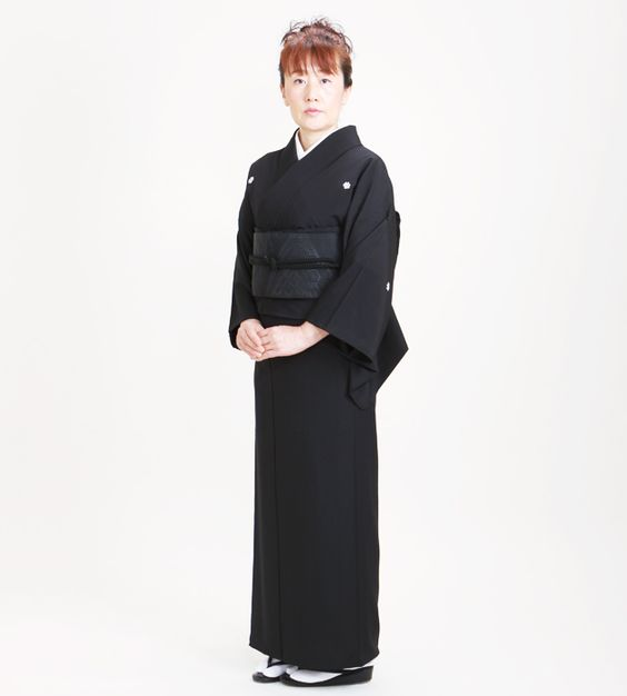 Mofuku (喪服) is only used to attend the funeral of a close relative. It must be in black.