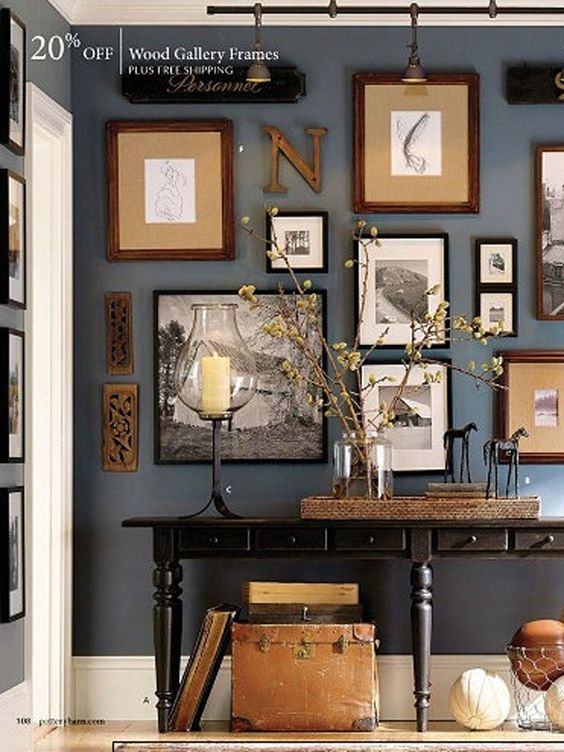 Can we just have a wall of hipster photos in vintage frames? Because that would make my life complete!