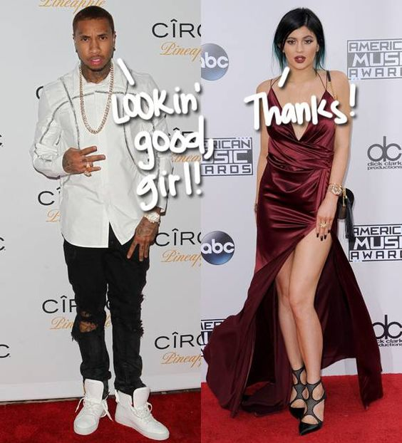 Kylie Jenner May Have Dumped Tyga, But That's Not Going To Stop Him From Commenting On Her Revealing Dress At The AMAs!