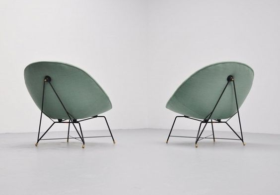 Augusto Bozzi, sedie e poltrone Saporiti - chairs and armchairs