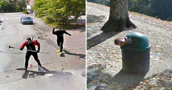 Η κάμερα του Google Street View πάντα κάτι εντοπίζει