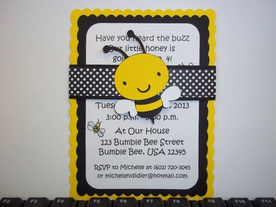 Bumble Bee Baby Shower Corsage Cold Porcelain By LezlieZDesigns 2000