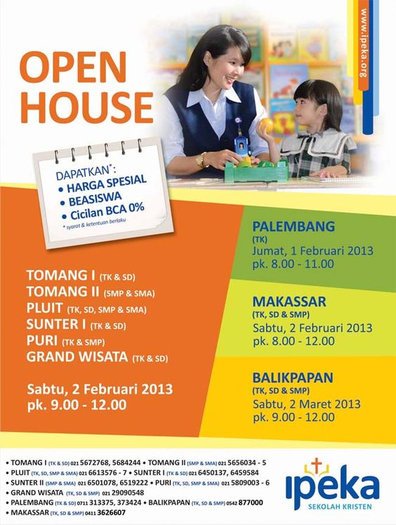 Come & Visit Open House of IPEKA CHRISTIAN SCHOOL