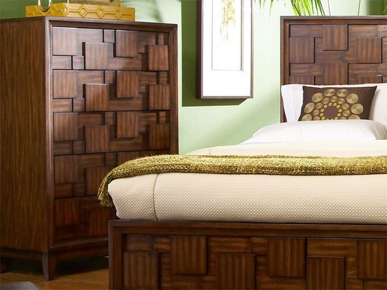 The Campton chest is a part of the unique retro-contemporary Campton collection, with a three dimensional patchwork design in a beautiful tobacco brown finish.