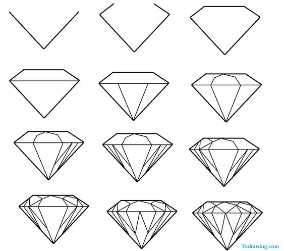 1000+ ideas about Diamond Drawing on Pinterest | Realistic ...