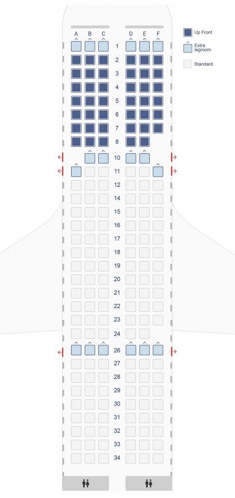 Airbus A319 Seating Plan Seating Plan How To Plan Airbus