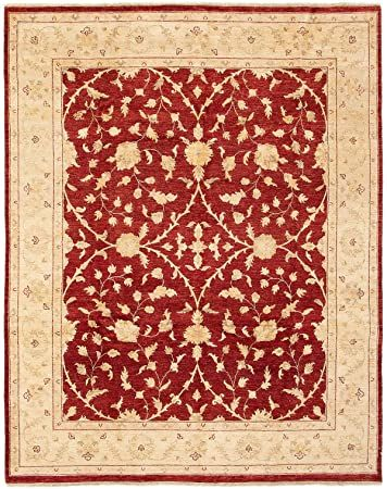 Ecarpet Gallery Large Area Rug For Living Room Bedroom Hand Knotted Wool Rug Chobi Finest Floral Red Rug 8 0 Wool Area Rugs Rugs In Living Room Area Rugs
