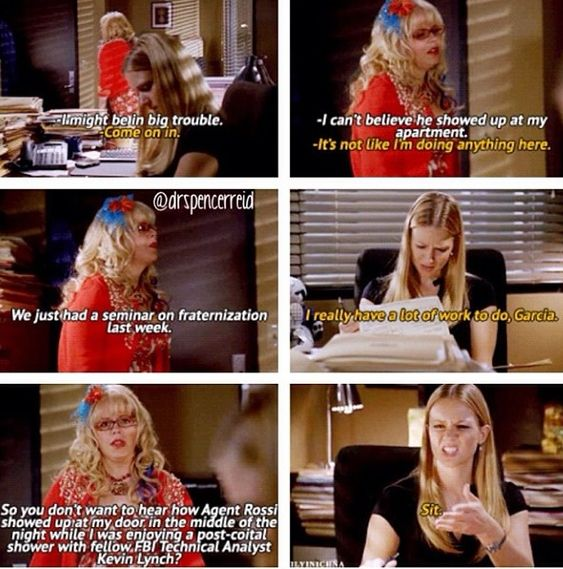 Criminal Minds- funny scene. Kevin Lynch and Penelope Garcia. haha LOVE THIS SHOW