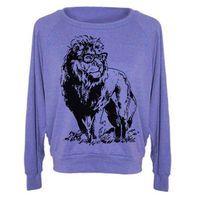 Womens Lion Professor Tri-Blend Raglan Pullover - American Apparel - S M and L (8 Color Options)