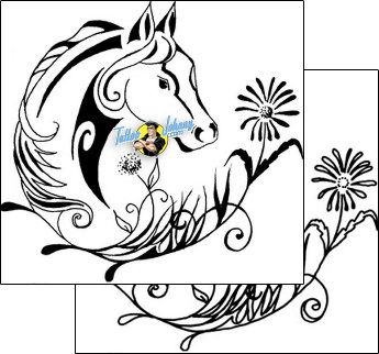 Horse Tattoo animal-horse-tattoos-eve-egf-00086