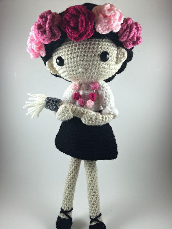 Amigurumi Doll Pdf : Carmen amigurumi doll crochet pattern pdf by carmenrent on