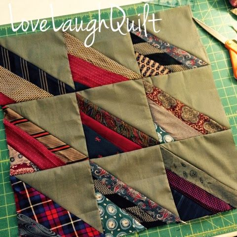 I needed something new.....and small....to hand quilt. I found it!! My bag of old ties got some sunshine today. Isn't it a great feeling to...