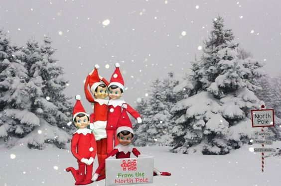 Elf on the Shelf Idea- Photo with Friends from the North Pole {Download} | Dirty Diaper Laundry