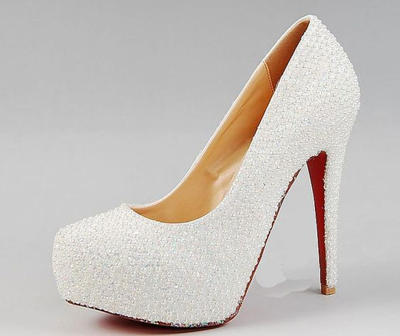 Hey, I found this really awesome Etsy listing at http://www.etsy.com/listing/160290978/pearl-covered-high-heelswhite-wedding