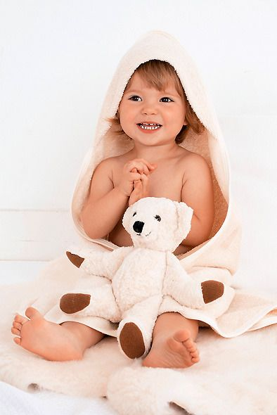 PChome Online 商店街 - JULIA'S-英國GREEN BABY有機媽媽寶寶用品小鋪 - 英國GREEN BABY,有機棉連帽毛巾,洗澡的好幫手 (100X100公分)