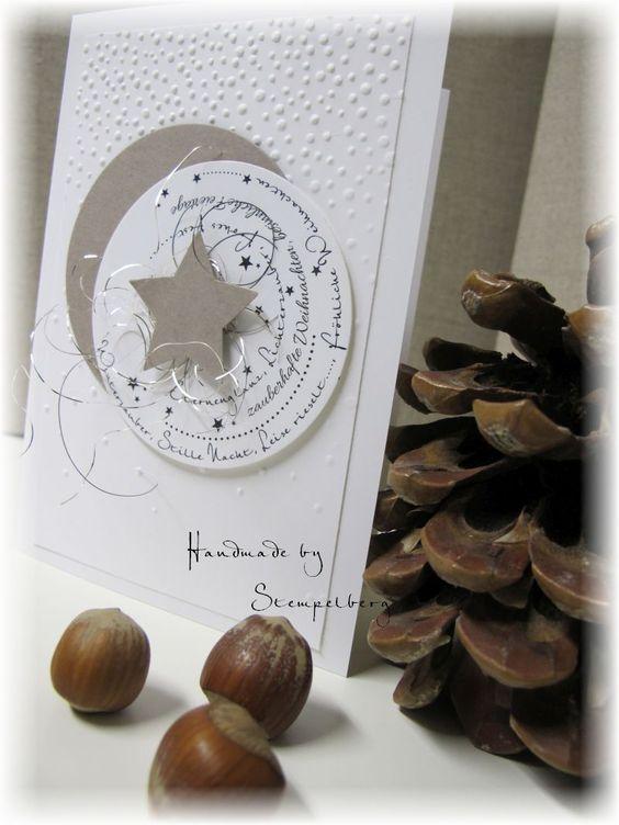 .: Weihnachtskarte mit selbst entworfenem Stempel