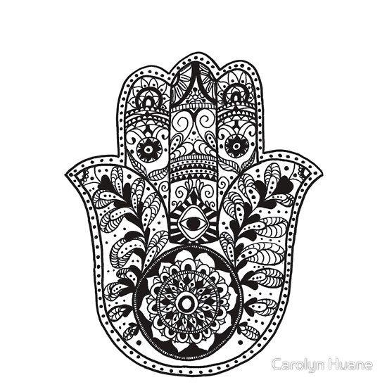 the hamsa hand sticker taschen hamsa und tattoo ideen. Black Bedroom Furniture Sets. Home Design Ideas