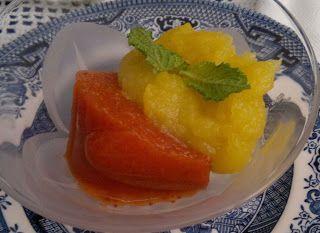 Gelatina de morango + Puré maça