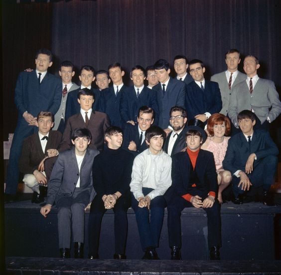The Beatles at the Beatles Christmas Show, at the Astoria Cinema, Finsbury Park, London, December 1963