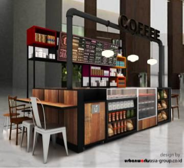 Coffee shop booth urbanworks asia pinterest coffee for Coffee carts for office